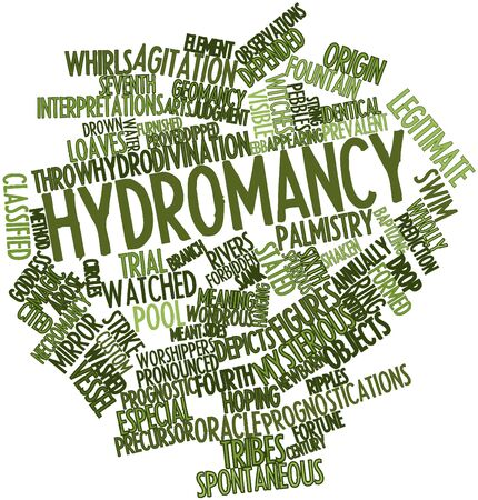 arose: Abstract word cloud for Hydromancy with related tags and terms