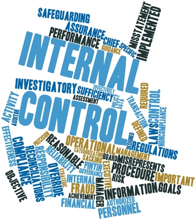 Abstract word cloud for Internal control with related tags and terms photo