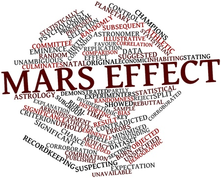 attributable: Abstract word cloud for Mars effect with related tags and terms