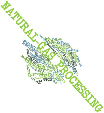 dissolved: Abstract word cloud for Natural-gas processing with related tags and terms Stock Photo