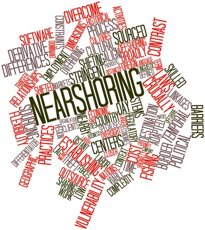 constraints: Abstract word cloud for Nearshoring with related tags and terms
