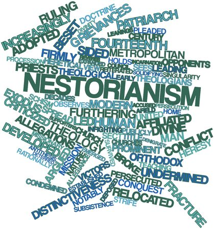 Abstract word cloud for Nestorianism with related tags and terms Stock Photo - 17352273