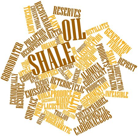 arsenic: Abstract word cloud for Oil shale with related tags and terms