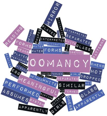 omens: Abstract word cloud for Oomancy with related tags and terms