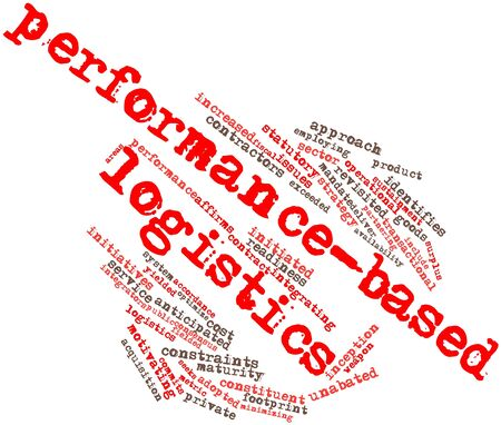 Abstract word cloud for Performance-based logistics with related tags and terms Stock Photo - 17351266