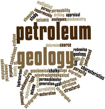 geology: Abstract word cloud for Petroleum geology with related tags and terms