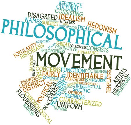 philosophical: Abstract word cloud for Philosophical movement with related tags and terms