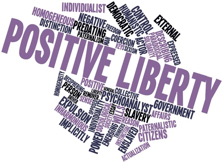 humanistic: Abstract word cloud for Positive liberty with related tags and terms