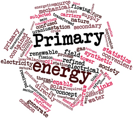 Abstract word cloud for Primary energy with related tags and terms photo