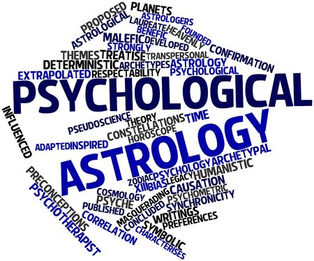 avoids: Abstract word cloud for Psychological astrology with related tags and terms