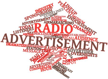Abstract word cloud for Radio advertisement with related tags and terms