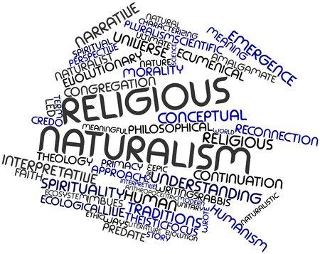 humanismo: Nube palabra abstracta para el naturalismo religioso con etiquetas y términos relacionados