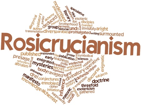 surmounted: Abstract word cloud for Rosicrucianism with related tags and terms