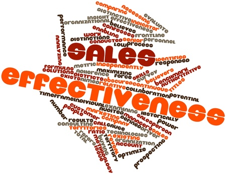 identified: Abstract word cloud for Sales Effectiveness with related tags and terms Stock Photo