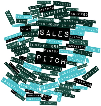 Abstract word cloud for Sales pitch with related tags and terms Stock Photo - 17352145