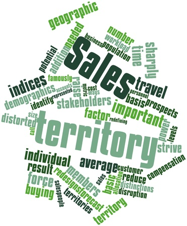 Abstract word cloud for Sales territory with related tags and terms Stock Photo - 17351198