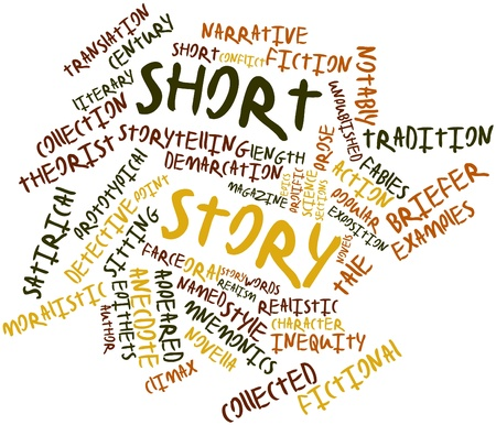 Abstract word cloud for Short story with related tags and terms