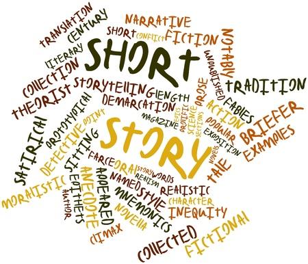 prosa: Word cloud astratto per breve storia con tag e termini correlati Archivio Fotografico