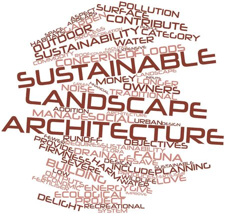 Abstract word cloud for Sustainable landscape architecture with related tags and terms Stock Photo - 17351431