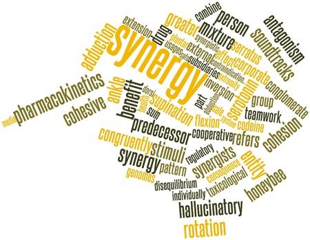 fu�sohle: Abstraktes Wort-Wolke f�r Synergy mit verwandten Tags und Begriffe