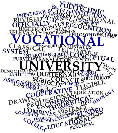 undergraduate: Abstract word cloud for Vocational university with related tags and terms