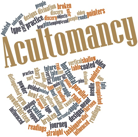 influenced: Abstract word cloud for Acultomancy with related tags and terms