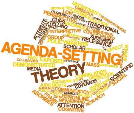causal: Abstract word cloud for Agenda-setting theory with related tags and terms