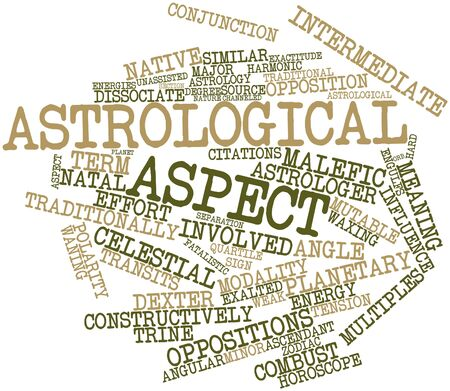 weaker: Abstract word cloud for Astrological aspect with related tags and terms