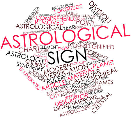 omens: Abstract word cloud for Astrological sign with related tags and terms