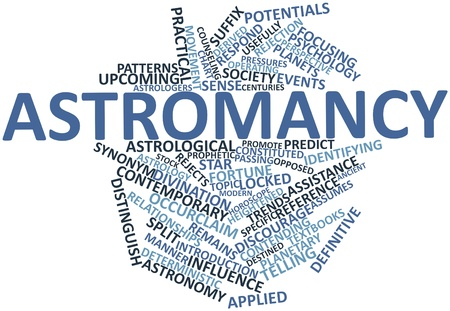 prophetic: Abstract word cloud for Astromancy with related tags and terms