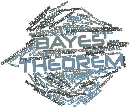 ascribed: Abstract word cloud for Bayes theorem with related tags and terms