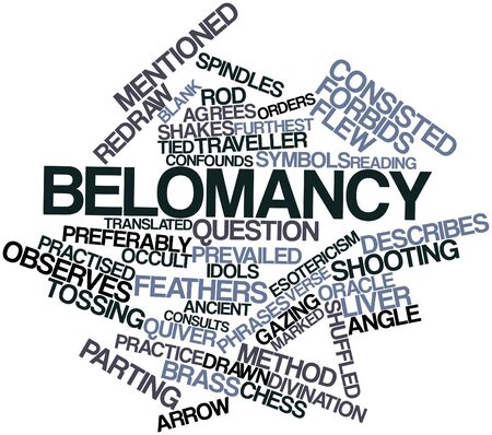 Abstract word cloud for Belomancy with related tags and terms Stock Photo - 17397629