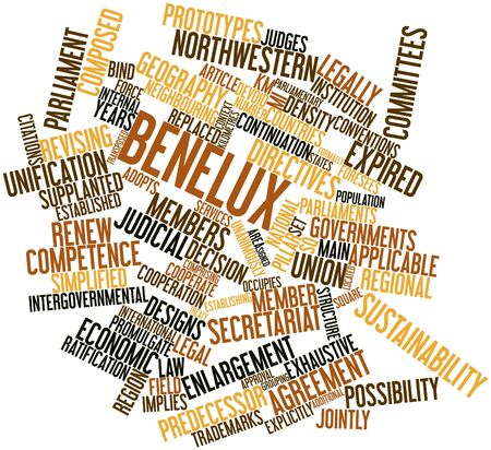 continuation: Abstract word cloud for Benelux with related tags and terms