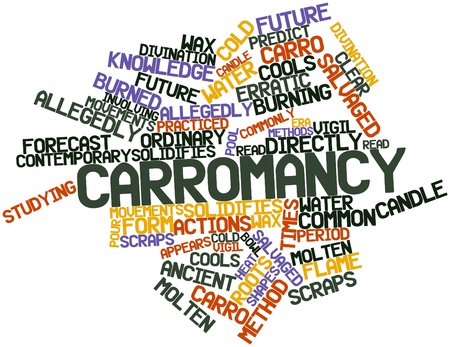 erratic: Abstract word cloud for Carromancy with related tags and terms Stock Photo