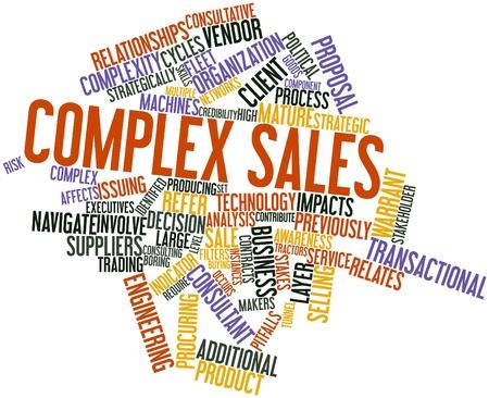 instances: Word cloud astratto per vendite complesse con tag correlati e termini
