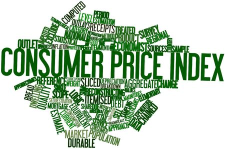 Abstract word cloud for Consumer price index with related tags and terms photo