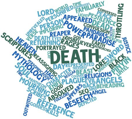 rages: Abstract word cloud for Death with related tags and terms