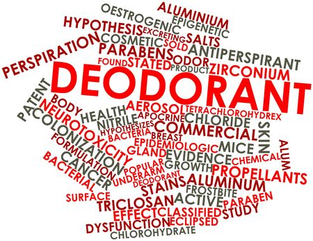 Abstract word cloud for Deodorant with related tags and terms Stock Photo - 17397823