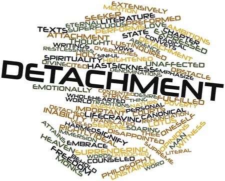 Abstract word cloud for Detachment with related tags and terms Stock Photo - 17397832