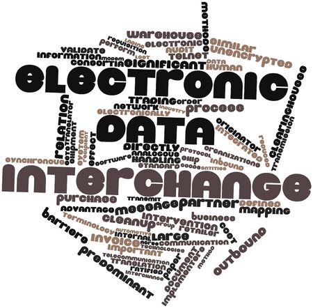 acknowledgment: Abstract word cloud for Electronic data interchange with related tags and terms