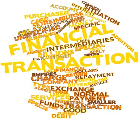 permitting: Abstract word cloud for Financial transaction with related tags and terms