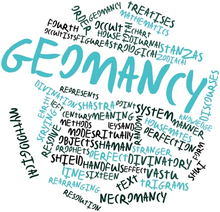 diurnal: Abstract word cloud for Geomancy with related tags and terms
