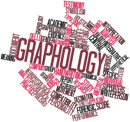 describe: Abstract word cloud for Graphology with related tags and terms