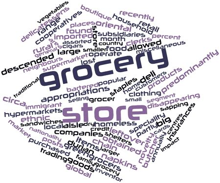 specialty store: Abstract word cloud for Grocery store with related tags and terms