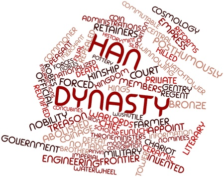 Abstract word cloud for Han Dynasty with related tags and terms Stock Photo - 17398116