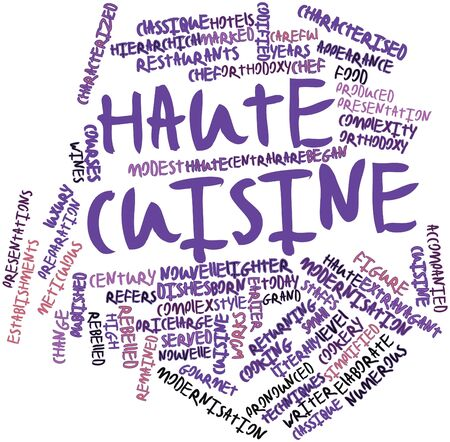 characterised: Abstract word cloud for Haute cuisine with related tags and terms