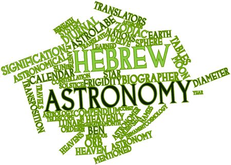 diameter: Abstract word cloud for Hebrew astronomy with related tags and terms