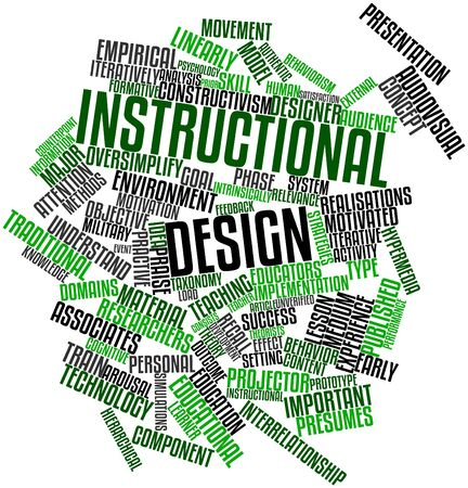Abstract word cloud for Instructional design with related tags and terms