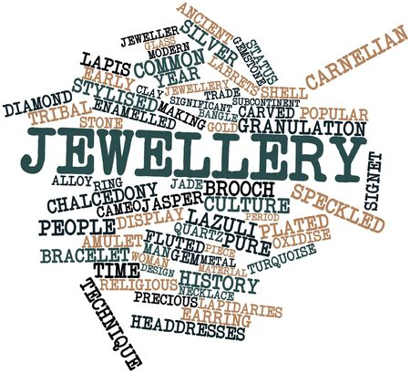 Abstract word cloud for Jewellery with related tags and terms Stock Photo - 17397829