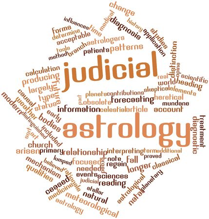 Abstract word cloud for Judicial astrology with related tags and terms Stock Photo - 17397687